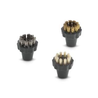 Комплект круглых щеток со щетиной из нержавеющей стали Karcher для пароочистителей серии SGV (3 шт)