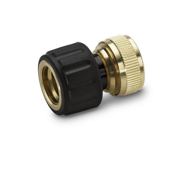 Коннектор латунный Karcher 1/2 и 5/8 с функцией Aqua Stop