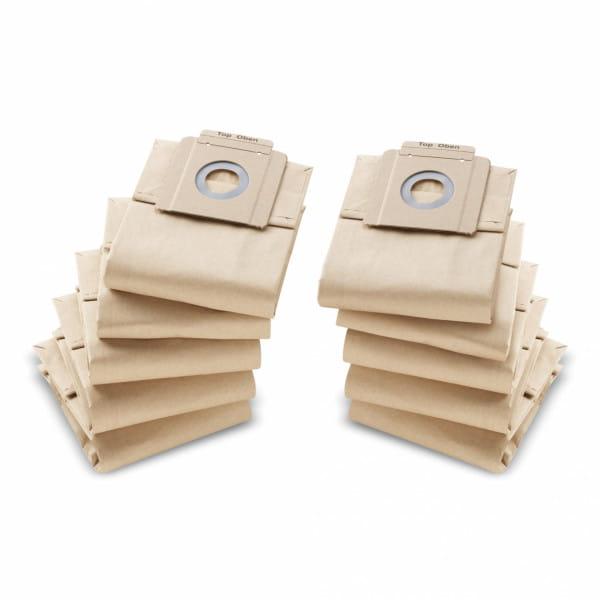 Фильтр-мешки бумажные Karcher для пылесоса T 7/1, 10/1 (10 шт)