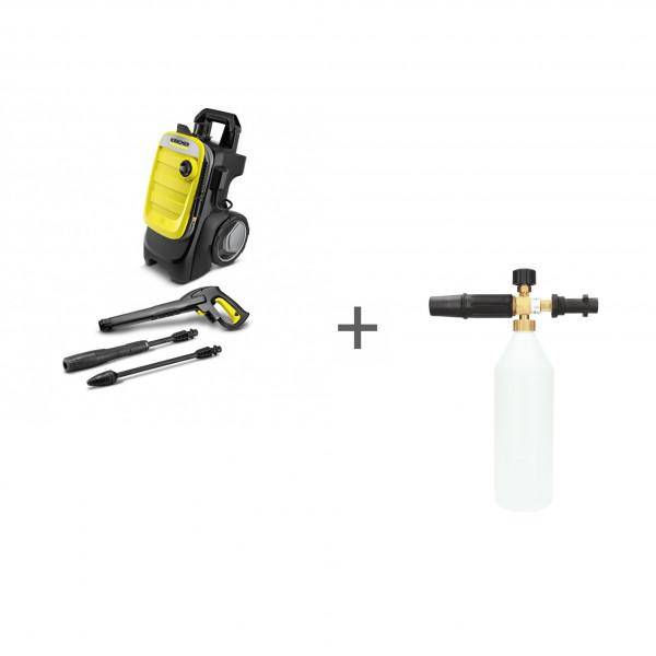 Минимойка высокого давления Karcher K 7 Compact + насадка пенная 1 л в подарок