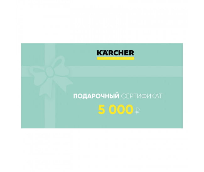 5 000 руб  в фирменном магазине Karcher