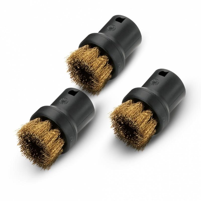 Комплект круглых щеток с латунной щетиной Karcher для пароочистителей серии SC, SI (3 шт)