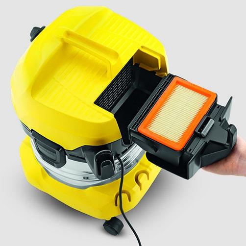 Хозяйственный пылесос WD 4 Premium: Запатентованная технология замены фильтра