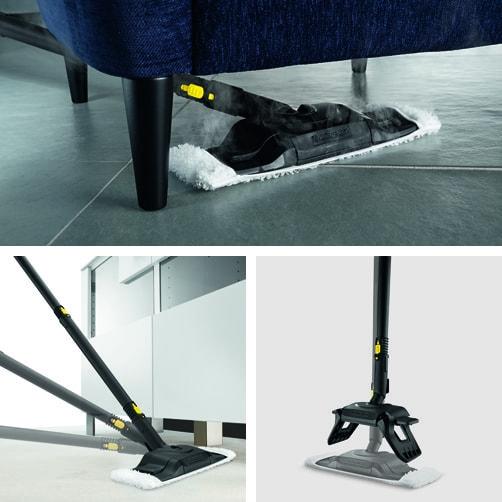 Пароочиститель SC 4 + Утюг: Насадка для уборки пола Comfort Plus с гибким подсоединением и инновационной технологией смены салфетки