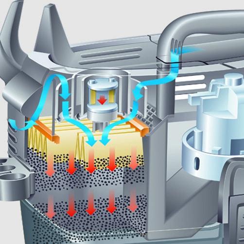 Пылесос влажной и сухой уборки NT 35/1 Tact Te: Автоматическая система очистки фильтра Tact