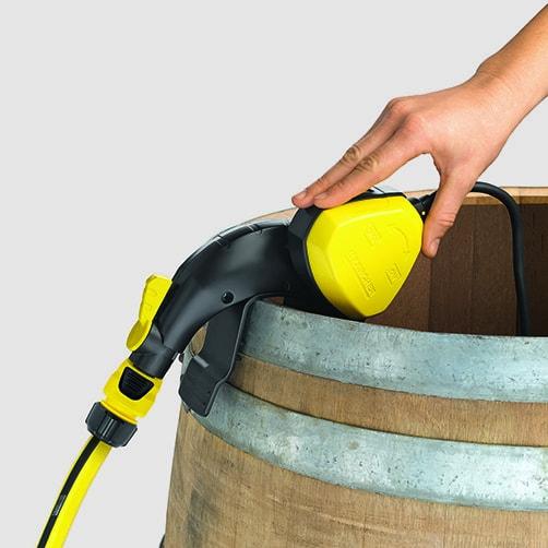 бочковой насос BP 1 Barrel Set: Отключение благодаря поплавковому выключателю
