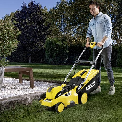 LMO 36-40 Battery Set: Скашивание травы до края газона