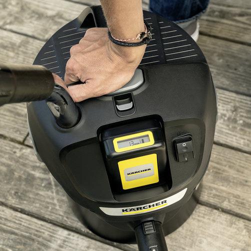 Пылесос для золы AD 2 Battery Set: Технология Kärcher ReBoost: очистка фильтра нажатием кнопки