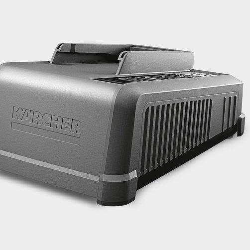 Быстрозарядное устройство Battery Power+ 36 В: Современный, узкий и компактный дизайн машины