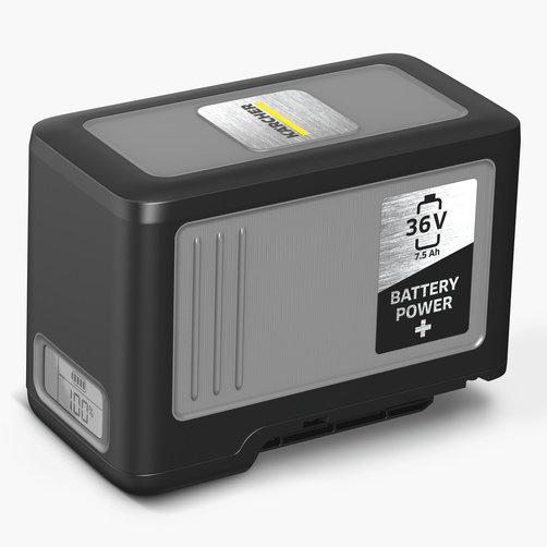 Пылесос влажной и сухой уборки NT 22/1 Ap Bp Pack L: Мощный 36-вольтный аккумулятор Kärcher Battery Power+ емкостью 7,5 Ач